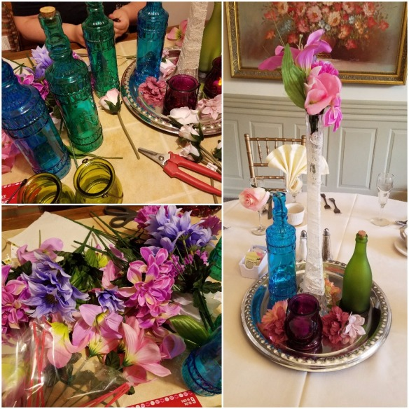 English Garden Party Centerpieces at Bridal Shower - bridesmaidsconfession.com
