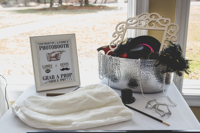 Photobooth props. Great Gatsby Bridal Shower. Bridesmaidsconfession.com