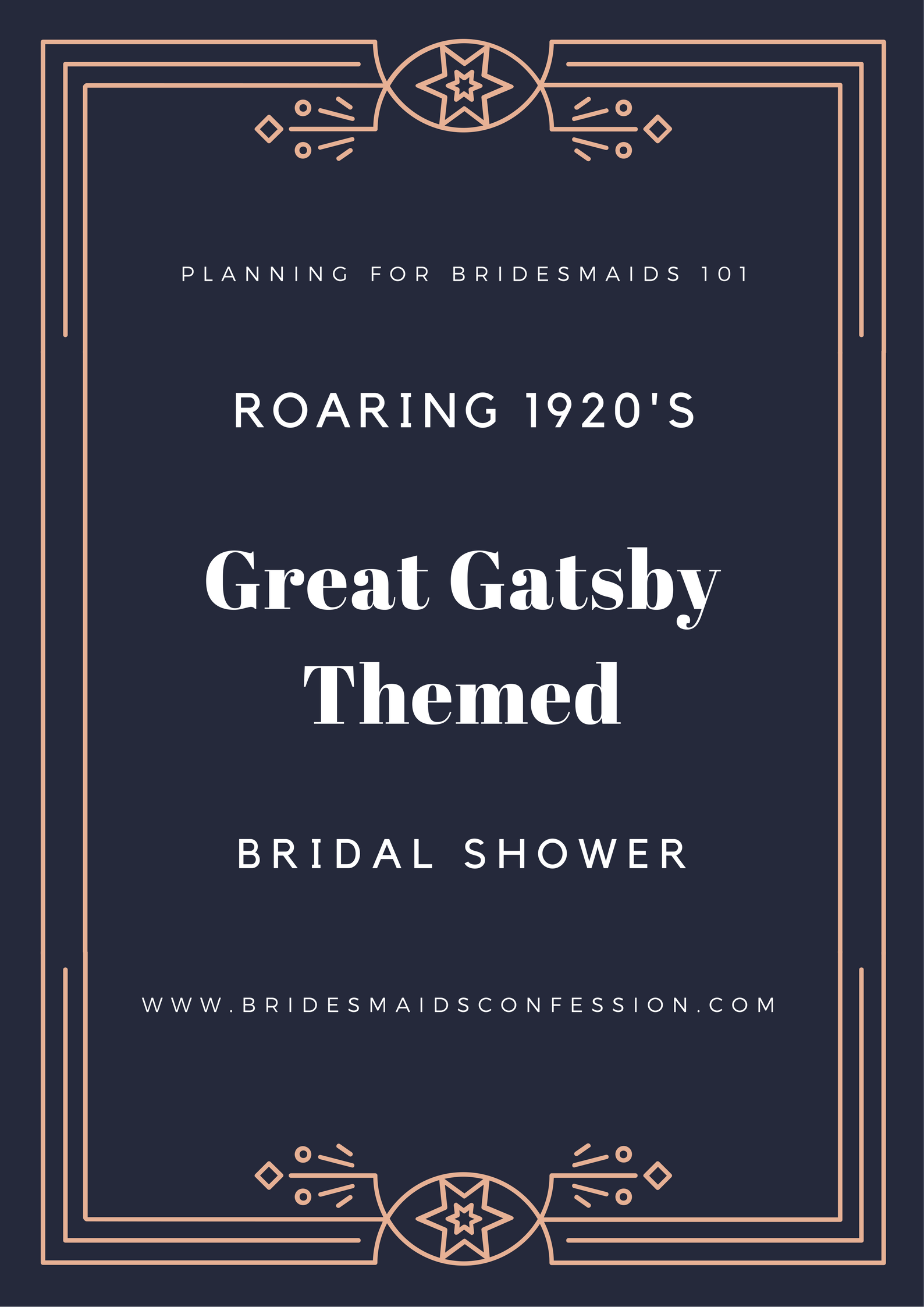Roaring 1920s Great Gatsby Themed Bridal Shower from bridesmaidsconfession.com