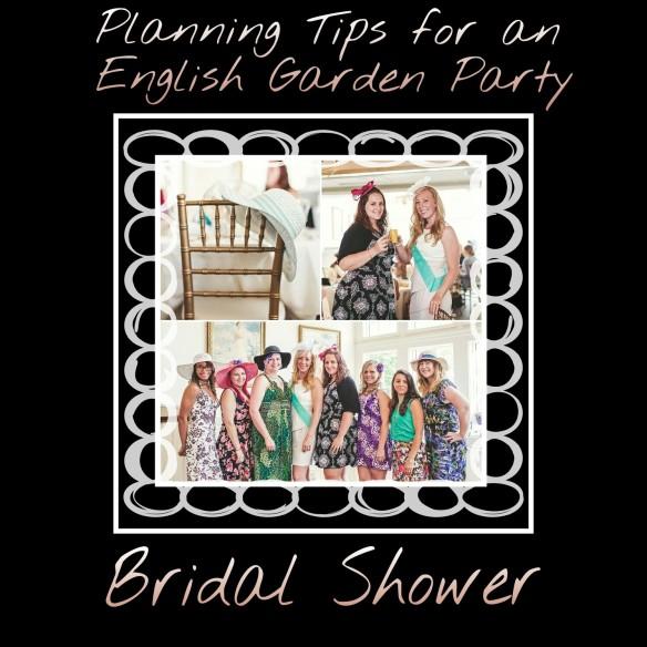 English Garden Party Bridal Shower Tips