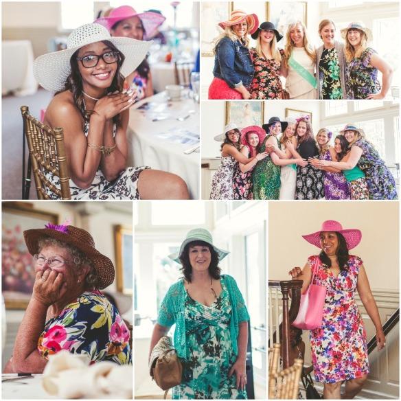 English Garden Party Hats and Floral Dresses bridesmaidsconfession.com