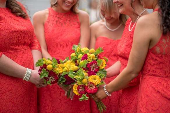 Leah Loves That Photography Flowers and Firecracker Red Dresses bridesmaidsconfession.com