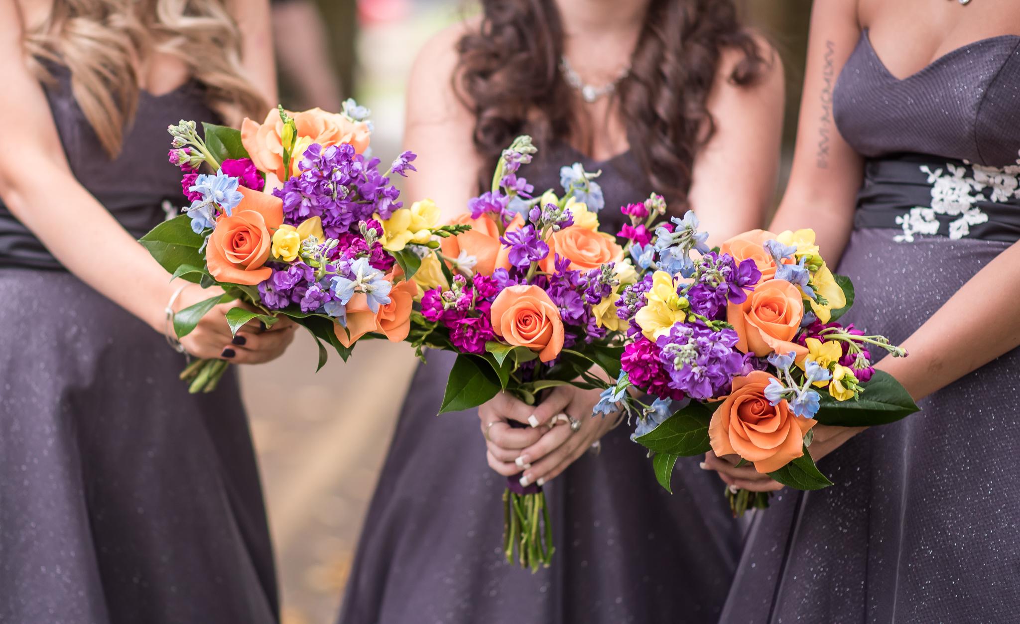 Leah Loves That Photography Flowers and Purple Dresses bridesmaidsconfession.com