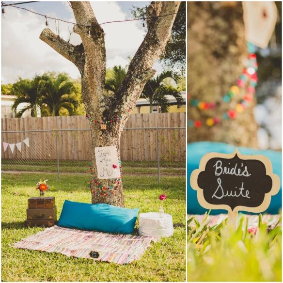 Picnic Bridal Shower. Bride's Suite Blanket Area. Chris Sosa Photography. bridesmaidsconfession.com