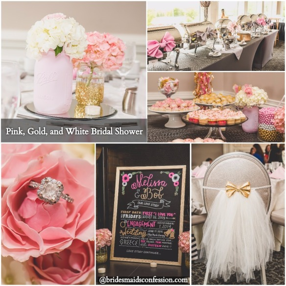 Pink, Gold, and White Bridal Shower. Nicole Klym Photography.
