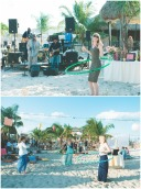 Boho Beach Bridal Shower hula hooping contest and beach band. Nicole Klym Photography. bridesmaidsconfession.com
