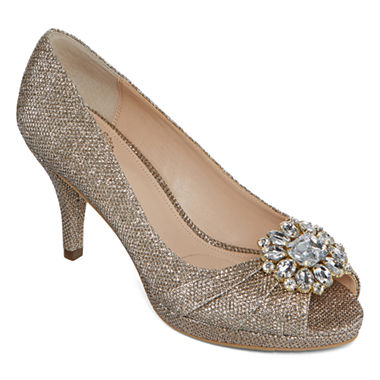 I. Miller Cailyn Pumps Peep Toe in Latte color.