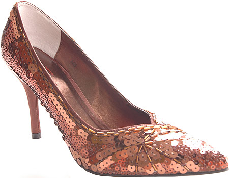 Stefani Nelly Bronze Sequin Heel