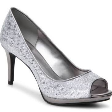 Women's Nine West Guilded Platform Pump Pewter at DSW