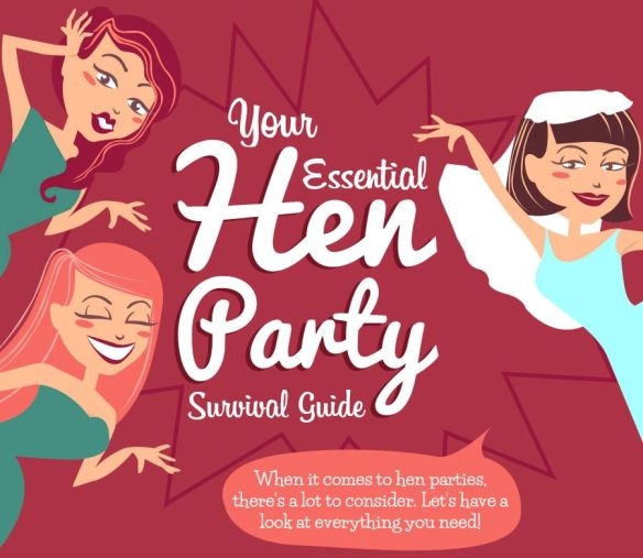Your Essential Bachelorette or Hen Party Survival Guide. Everything You Need to Know to Plan Infographic. Black and White Events in Ireland.