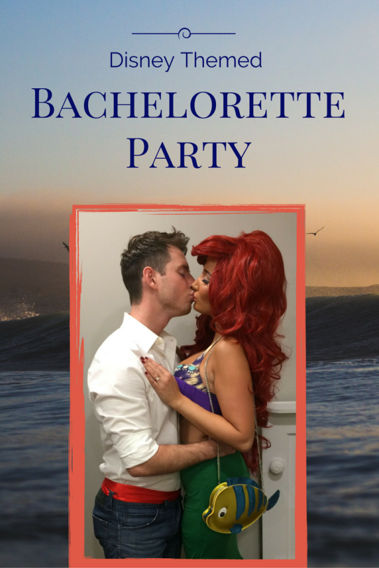 Disney Themed Joint Bachelor and Bachelorette Party. Bride dressed as Ariel and Groom was Prince Eric. @disneybride2be