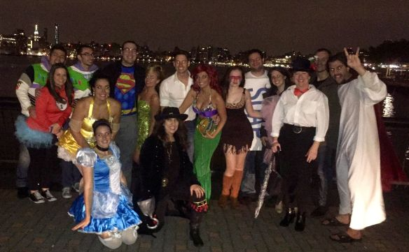 Halloween with a twist. Engaged Jersey couple has a Disney themed joint bachelor and bachelorette party @disneybride2be