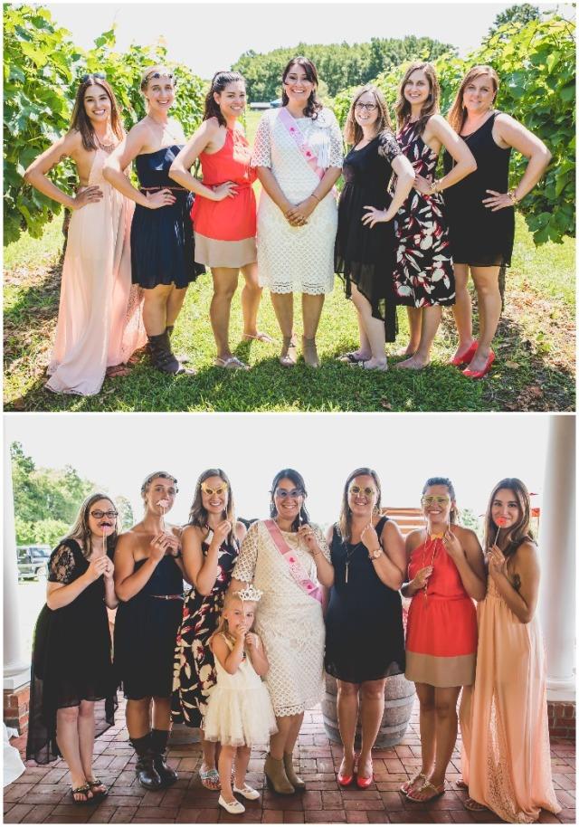 bride-and-her-bridesmaids-at-a-vineyard-bridal-shower