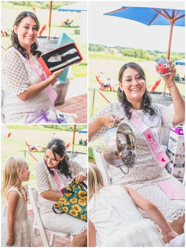 bride-opening-her-gifts-at-a-vineyard-bridal-shower