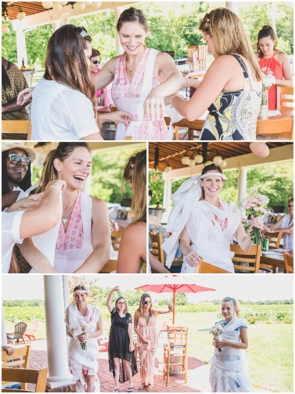 toliet-paper-dress-bridal-shower-game-at-a-vineyard