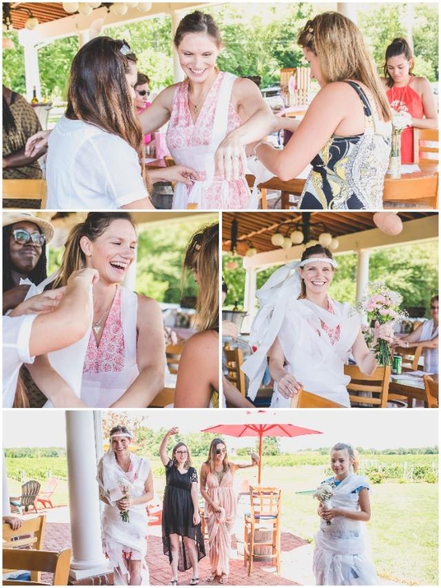 toliet-paper-dress-bridal-shower-game-at-a-vineyard