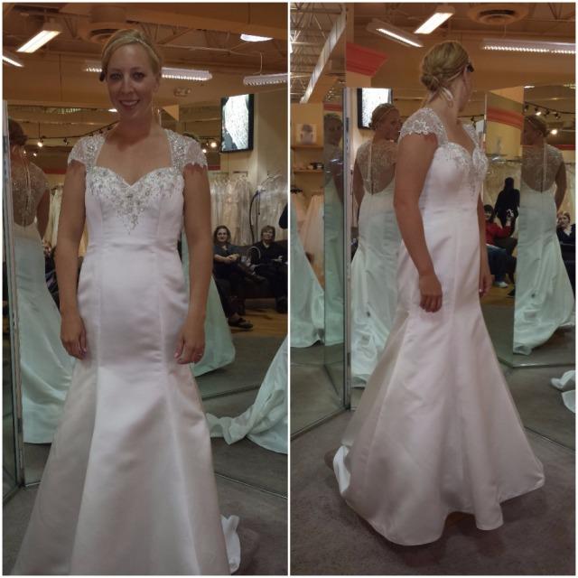 Trying on wedding dresses. Runner up.