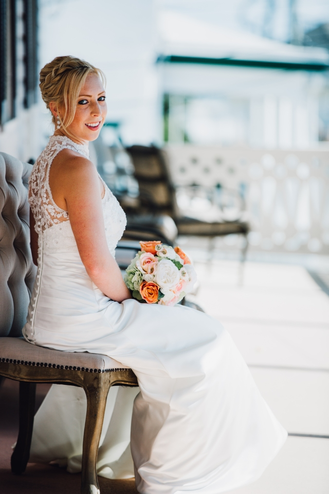 Bride on the wedding day.