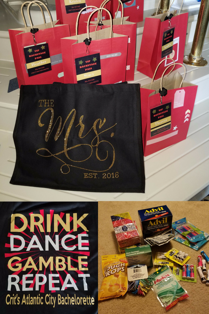 Bachelorette Party Bags. Drink, Dance, Gamble, Repeat.