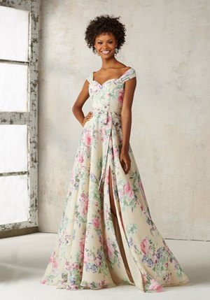 Floral printed chiffon 21528 gown from the Mori Lee from Best for Bride Canada.